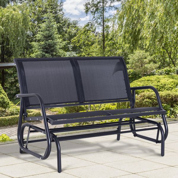 Outsunny 48 Outdoor Patio Swing Glider, Outdoor Patio Glider