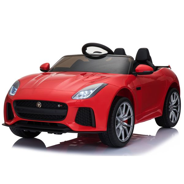 Aosom 12V Kids Ride on Car F-TYPE Licensed Electric Car Double Door Battery Powered | Aosom