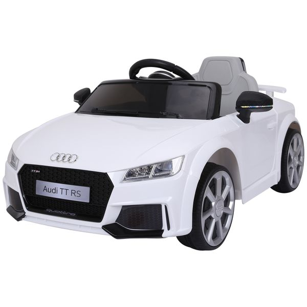 Aosom 6V Audi TT RS Kids Electric Sports Car Ride On Toy One Seat with Remote Control - White|AOSOM.COM
