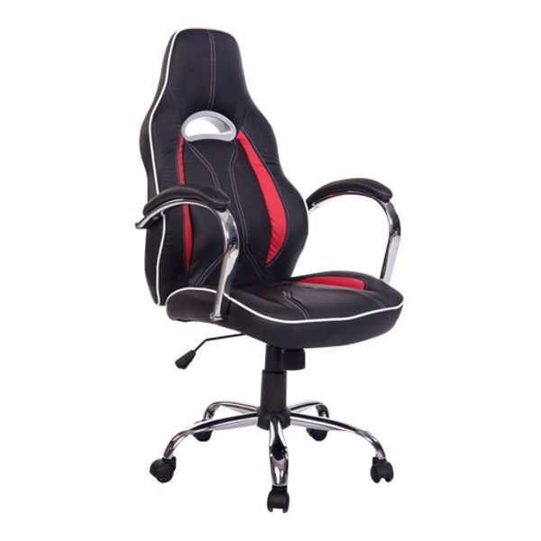 HomCom High Back Racing Style Ergonomic Gaming Chair - Red / Black | Aosom