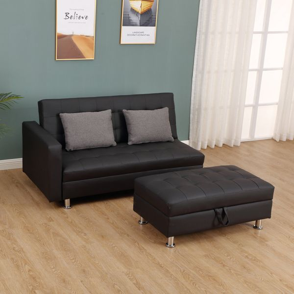 Homcom Twin Size Faux Leather