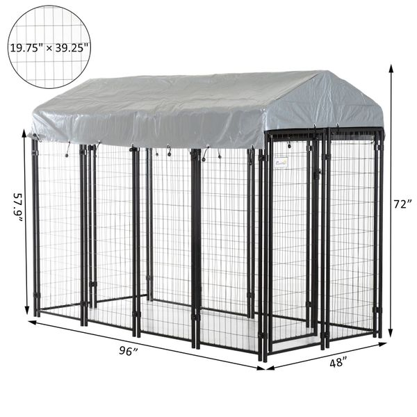 Outdoor Dog Cage Covered Box Kennel