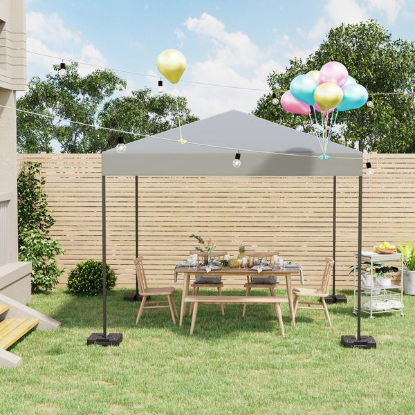 Outsunny 4PCs Plastic Canopy Tent Weights No-Pinch Patio Accessory for Outdoor Instant Shelters | Aosom