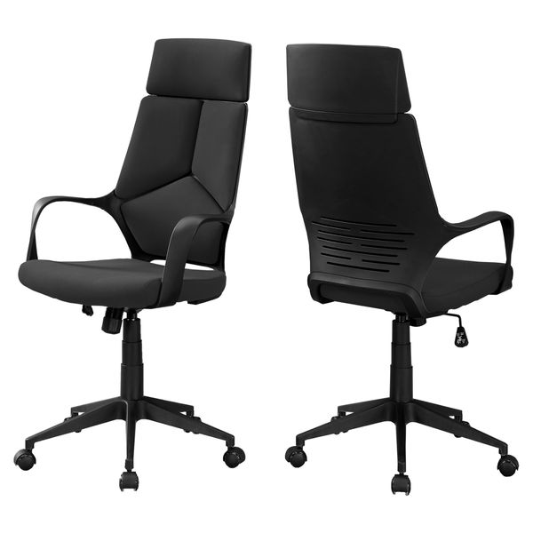Monarch Ergonomic Swivelling High Back Executive Office Chair - Black | Aosom