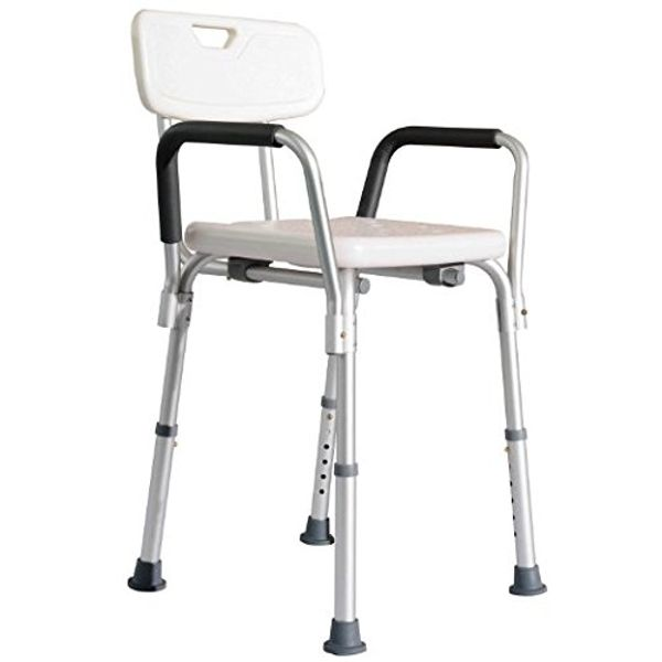 HomCom Adjustable Medical Shower Chair w/ Arms / Height Mobility sturdy safe shower chair|Aosom.com