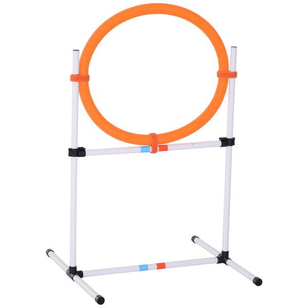 PawHut Pet Dog Cat Backyard Agility Jumping Fitness Exercise Hurdle Bar / Jump Hoop | Aosom