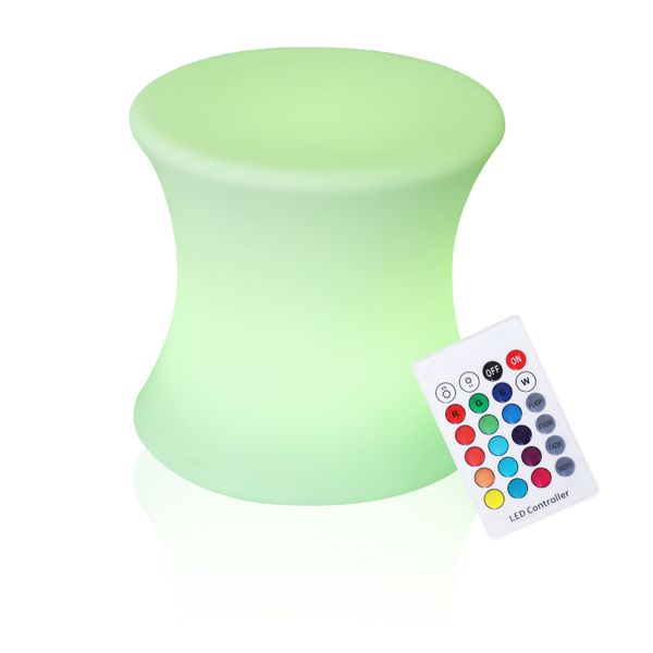 "Outsunny 16"" Outdoor Color Changing LED Light Lamp Stool with Remote Control 