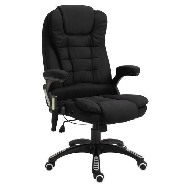 Vinsetto Ergonomic Vibrating Massage Office Chair High Back Executive Chair with Lumbar Support Armrest Height Adjustable | Aosom