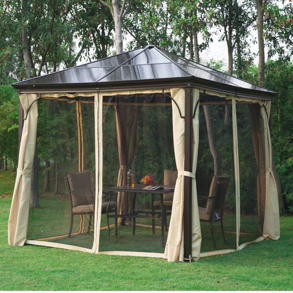 Outsunny 10x10 Metal Gazebo Aluminum