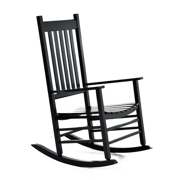 Outsunny Porch Rocking Chair - Outdoor Patio Wooden Rocking Chair|AOSOM.COM