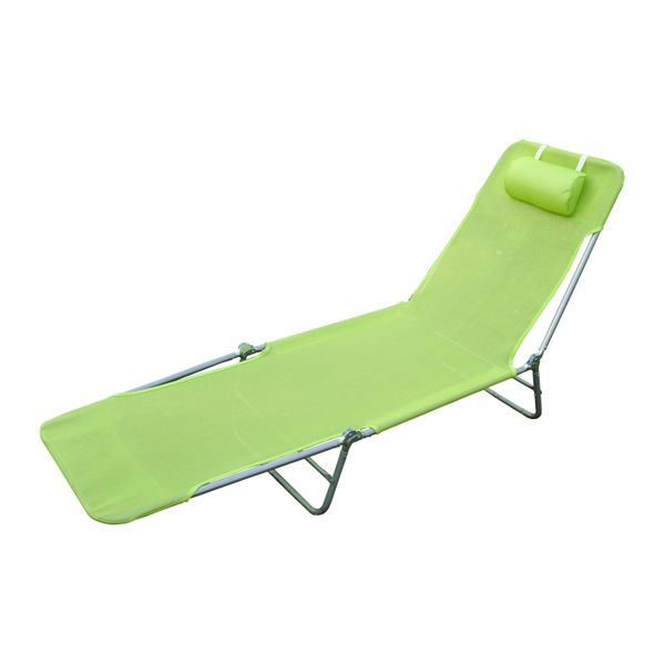 Outsunny Outdoor Portable Deck Recliner Zero Gravity Chaise Lounger Garden Camping Cot Steel | Aosom