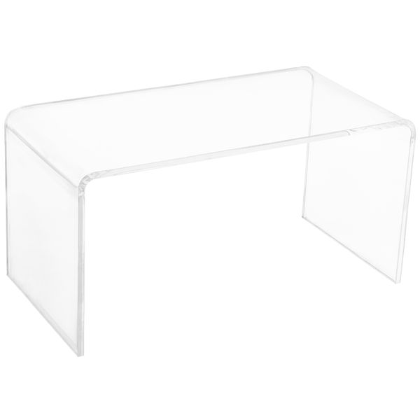 Homcom Acrylic Coffee Table 0.78In Thick Rectangle All Acrylic Glass Waterfall Coffee Table Clear Coffee Table - Clear | Aosom