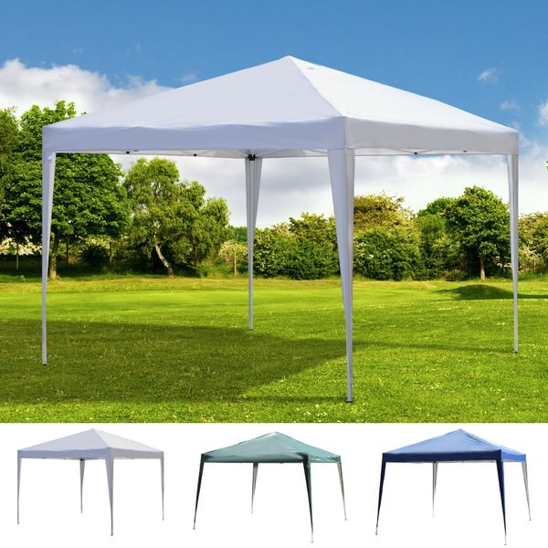 10' x 10' Easy Pop Up Canopy Gazebo Party Tent Shelter|AOSOM.COM