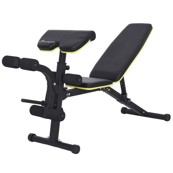 Multi-Functional Sit-Up Dumbbell Bench Adjustable Seat and Back Angle US