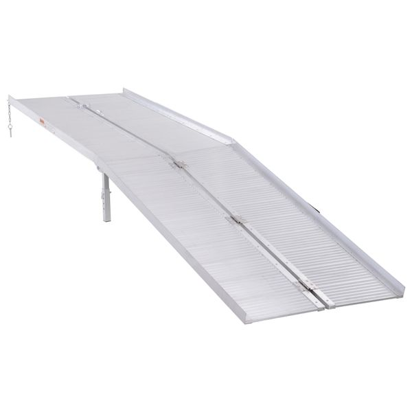 HomCom 10' Folding Wheelchair Threshold Ramp