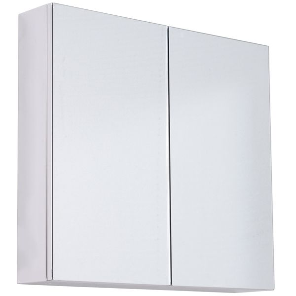 "HomCom 22"" Two Door Glass Stainless Steel Bathroom Wall Mirror Medicine Cabinet 