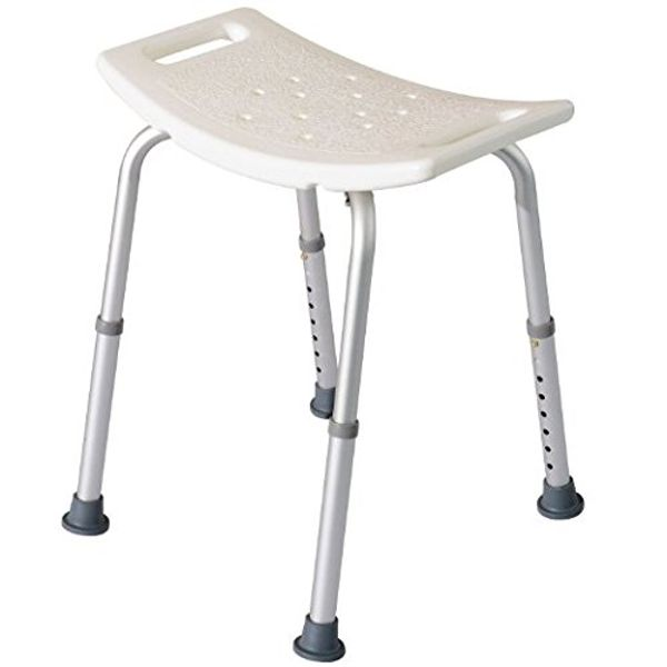 HomCom Rectangular Medical Shower Stool