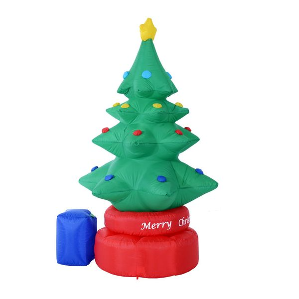 HomCom 7 Foot Tall? Animated Inflatable Rotating Christmas Tree Outdoor Lawn Decoration | Aosom