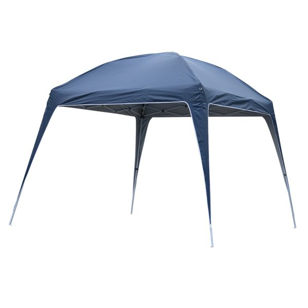 Outsunny 9.75' Large Dome Outdoor Portable Folding Sun Shade Pop Up Tent Canopy - Blue/ White|AOSOM.COM