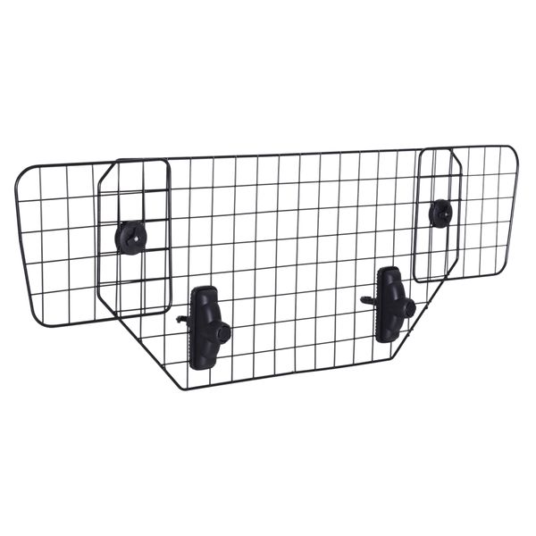 PawHut Dog Barrier Adjustable Pet Barrier for Car SUVs Vehicle Heavy Duty Mesh Wire- Black | Aosom