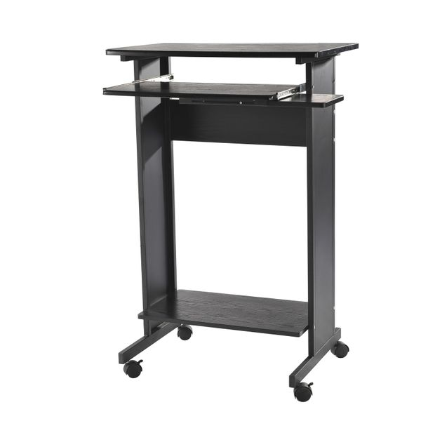 HomCom Portable Standing Workstation Computer Desk / rolling computer working standing desk | Aosom