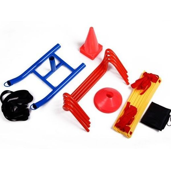 Soozier Speed Training Kit Ladder Hurdles Cones Markers Sled Agility Discs Weight Sled | Aosom