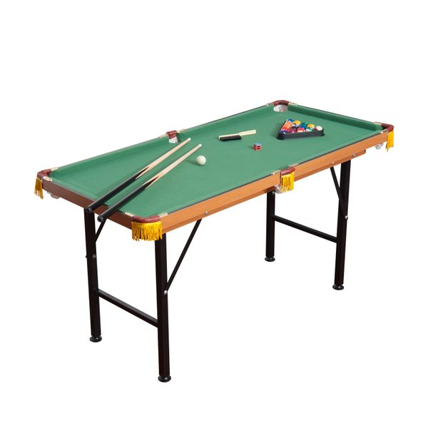 HomCom New 4.5ft Mini Table Top Pool Table Game Billiard Board Play with Balls Set cues | Aosom