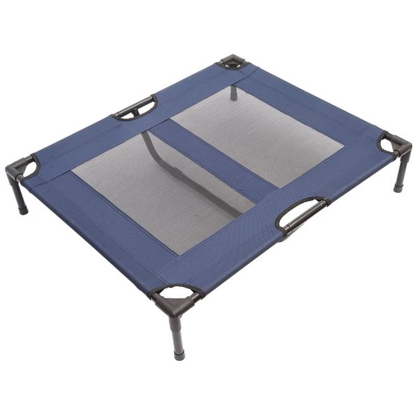 """PawHut 36"""" Elevated Dog Bed / Pet Cot Indoor Outdoor Modern Cat Furniture - Blue 
