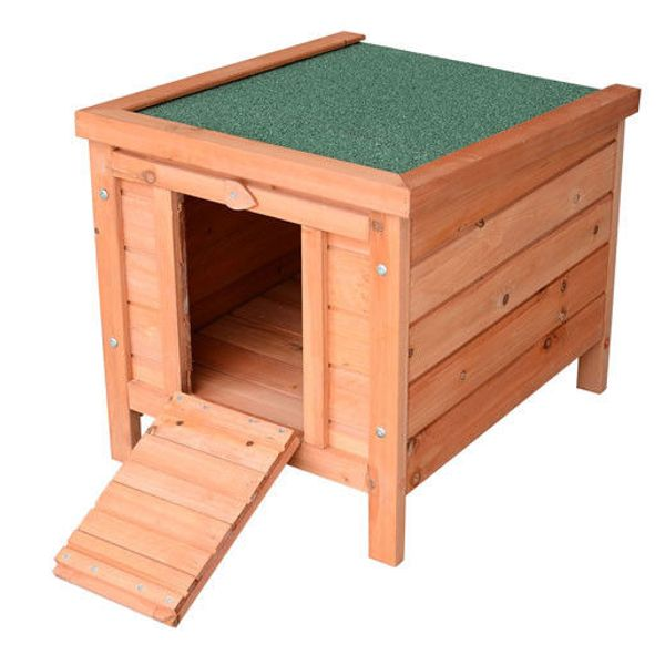 "PawHut Wooden Rabbit Hutch 20"""" Pet Habitat Cages Bunny Small Animal House New 