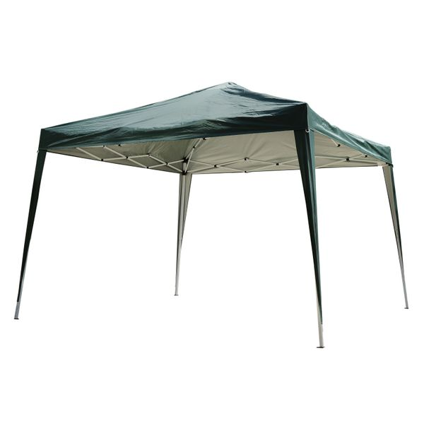 Outsunny 10' x 10' Easy Pop Up Canopy Gazebo Party Tent Shelter - Green|AOSOM.COM