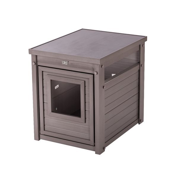 New Age Pet LitterLoo Litter Box Cover/End Table - Grey