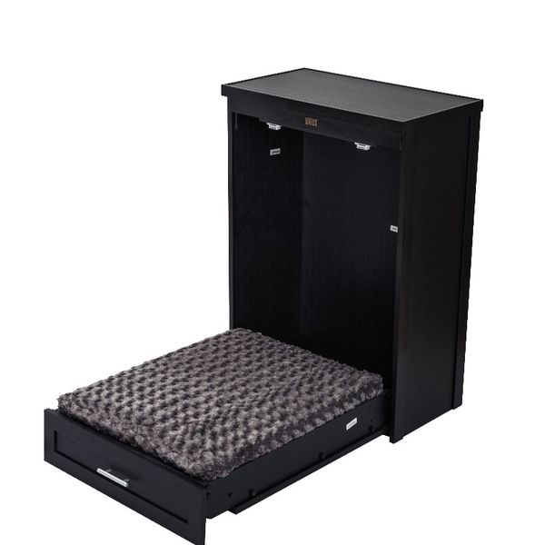 New Age Pet Murphy Bed with Memory Foam Cushion - Espresso