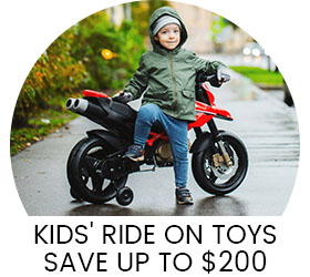 Kids' Ride-On Toys! Save up to $200, A perfect holiday gift. Electric Cars, Scooters, Go-Karts and More! Shop Now.