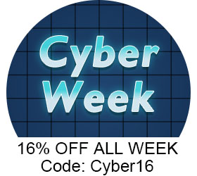 Cyber Week Sale! Up to 70% Off Doorbusters! 16% Off With Code: Cyber16. Shop Now!