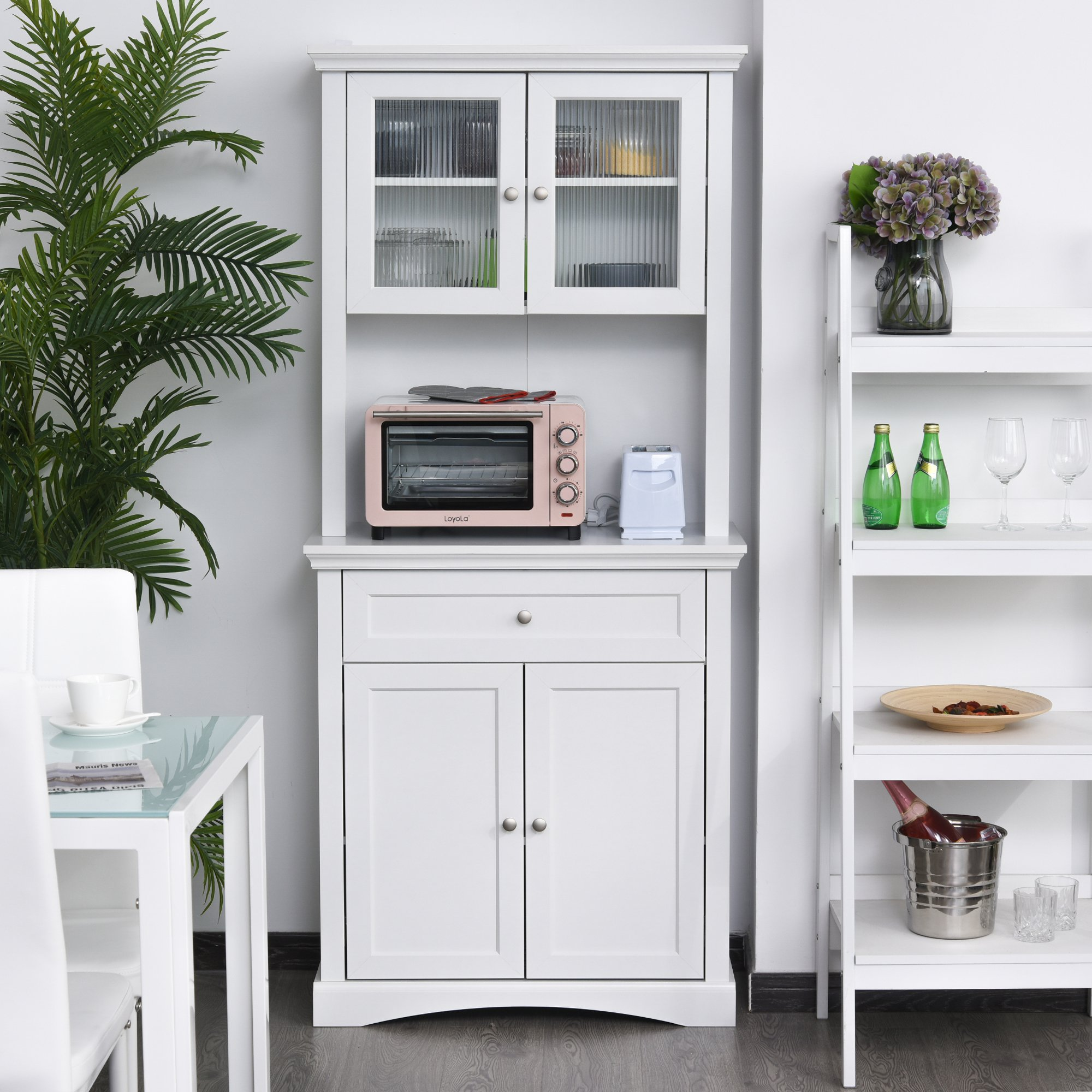 """Homcom Free Standing Kitchen Pantry 72"""" Traditional Tall ..."""