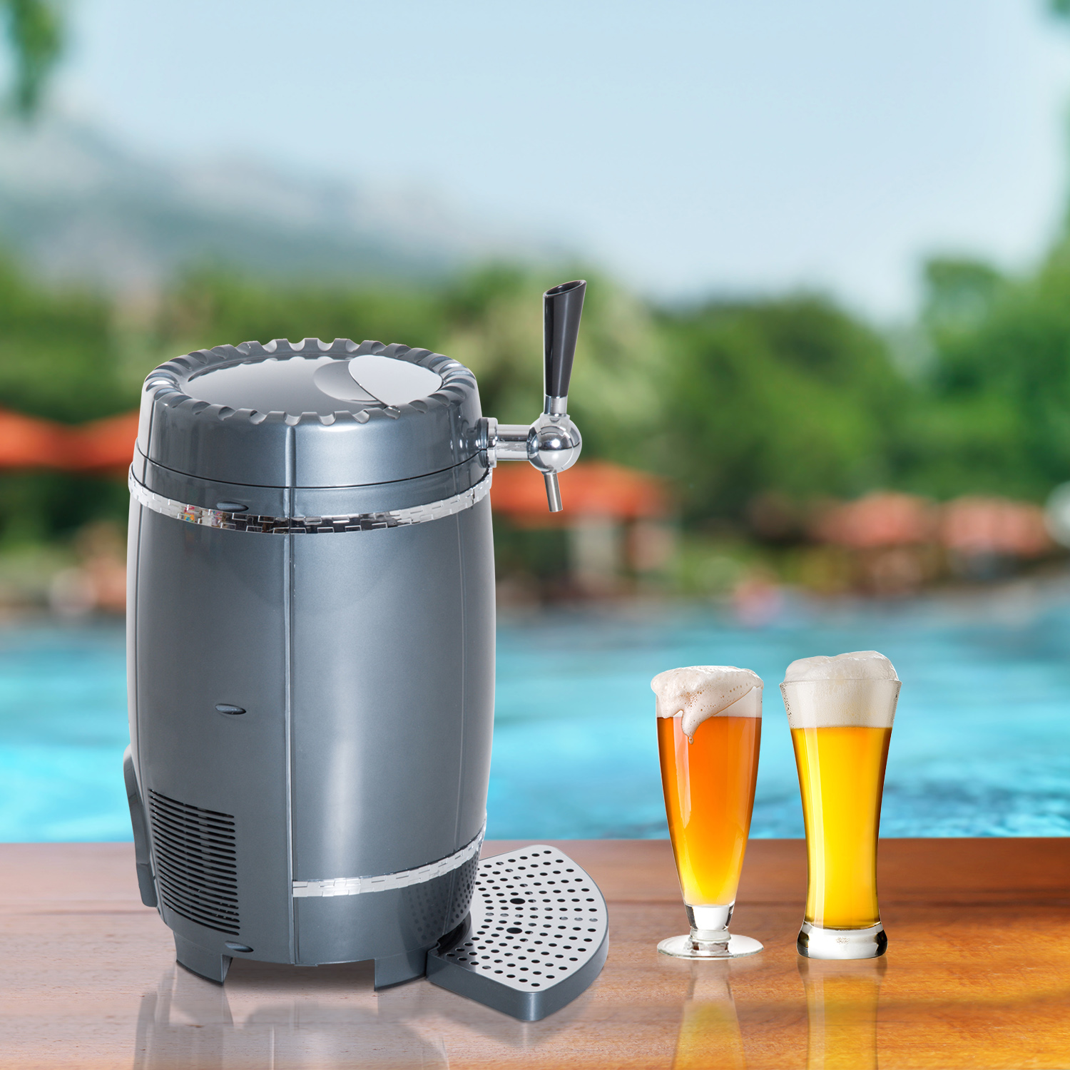 10 Liter Mini Kegerator Beer Cooler Dispenser