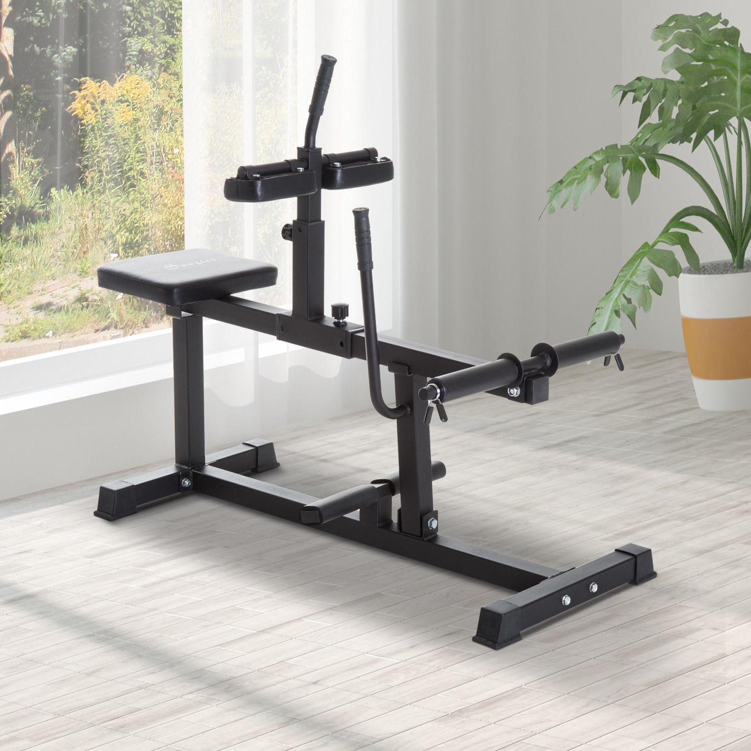 Soozier Adjustable Steel Seated Calf Raise Exercise Gym Equipment