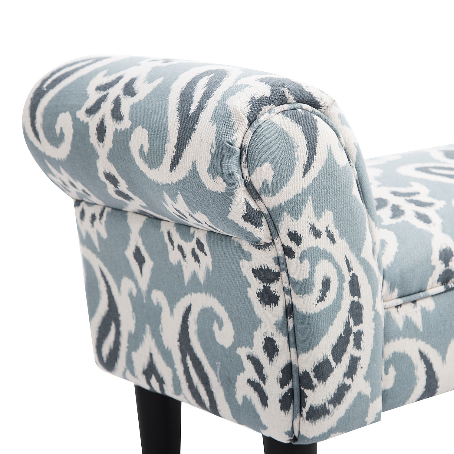 HomCom Linen Upholstered Vanity Accent Bench with